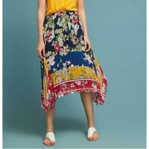 LAST CHANCE! Anthropologie Pleated Floral Skirt